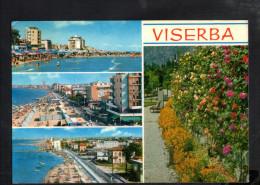 P4464 VISERBA DI RIMINI - Multipla Con Spiaggia E Fiori - EMILIA ROMAGNA - Viaggiata 1970 - Rimini