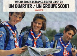 SCOUTISME  -   CALENDRIER 1992  -  Avec Les Scouts De France,  Relevez Le Défi 92 - Scouting
