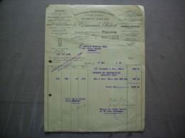 REIMS Vve P.DUCANCEL & P. HEBERT PRODUITS CHIMIQUES 75 RUE DES MOULINS FACTURE DU 17 MAI 1929 - France