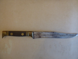 Couteau Ancien  Laguiole Chasse De Qualité  Marquage Sur Lame - Blankwaffen