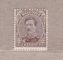1915 Nr 136A** Zonder Scharnier. Koning Albert I.Type II:de Krullen Voor En Na Belgique Zijn Niet Onderbroken - 1915-1920 Alberto I