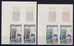 NOUVELLE-CALEDONIE : 1955  Yv 284 - 285  MNH/**/postfrisch/neuf Non Dentelé - Sin Dentar, Pruebas De Impresión Y Variedades