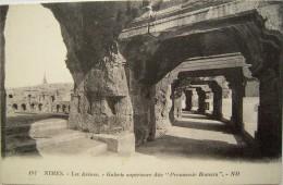 CPA 1912 - NIMES Corrida -  Vue Galerie Des Arènes - Cliché Années 20/30  - TBE - Nîmes