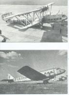 REPRODUCTIONS-Lot De 2 Cartes Scan R/V  (2) (AVION) AVIATION Civile ACO5 Quadrimoteur Handley Page;ACO1 Bimoteur Bloch - 1919-1938: Entre Guerres