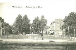 Montlucon. L'avenue De La Gare. - Montlucon