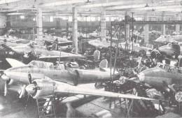 REPRODUCTION -CP AVIATION MILITAIRE 1ère SERIE 1938 (3) AMO2 HALL De MONTAGE USINE POTEZ à MEAULTE (Somme)(avion) - 1919-1938: Entre Guerres