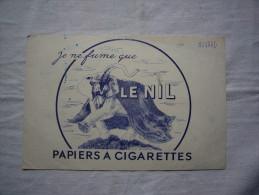Buvard Pub Je Ne Fume Que Le Nil Papiers à Cigarettes Utilisé Illustré éléphant - Tobacco
