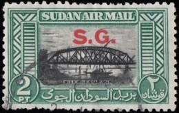 "SUDAN - Scott #CO1 Bridge Over Blue Nile, Khartoum ""Overprinted"" / Used Stamp - Soudan (...-1951)"