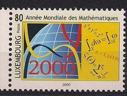2000 Luxemburg  Mi. 1497 **MNH   Internationales Jahr Der Mathematik - Luxembourg