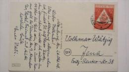 SBZ: Ansichts-Karte Mit 12+3 Pfg Tag Der Briefmarke  OSt. ALTENBURG Vom 26.10.48 Knr: 228  Mit 8 Ansichten Von Altenburg - Zone Soviétique