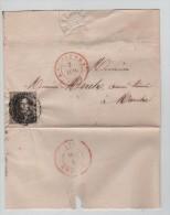 TP 6 S/L.c.Charleroi 1851 V.Marche C.d'arrivée P2616 - Postmark Collection