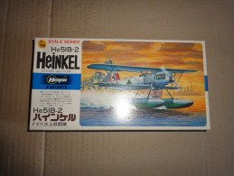 Maquette Avion Militaire-en Plastique----1/72 Hasegawa -HE 51 B -2 HEINKEL - Avions
