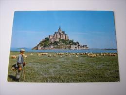 50 -  LE MONT-SAINT-MICHEL  * BERGER ET SON TROUPEAU DE MOUTONS DE PRE-SALE *   (MANCHE) - Le Mont Saint Michel