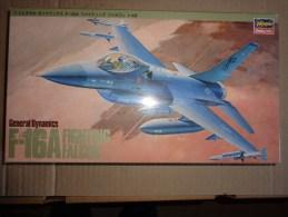 Maquette Avion Militaire-en Plastique----1/48 Hasegawa -F 16 A FIGHTING FALCON - Avions