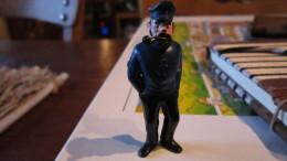 TINTIN FIGURINE HADDOCK AVEC SA PIPE  MARQUE ESSO HERGE - Tintin
