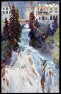 Wasserfall, Badgastein, Pinx E.H. Compton, Verlag Höllrigl - Bad Gastein