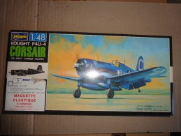 Maquette Avion Militaire-en Plastique-.---1/48 Hasegawa  VOUGHT F4U-1 D  CORSAIR - Avions