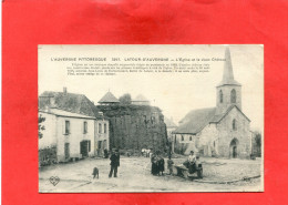 LA TOUR D AUVERGNE   / ARDT  ISSOIRE  1910  LES RUINES DU CHATEAU  CIRC OUI EDIT - France