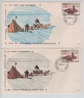 """TP 1030 Diffrérence-verschil S/FDC 1er Jour D""""Emission 1ste Dag Van Uitgifte C.BXL 18/10/1957 PR2619 - Expéditions Antarctiques"""