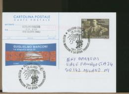 ITALIA - Intero Postale - BOLOGNA - GUGLIELMO MARCONI E LA SFIDA TRANSOCEANICA - TELEGRAFO  RADIO - Telecom
