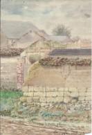 Paysage De Livry Sur Vesle/ Louvercy : Aquarelle/Militaria.1916. Voir Descriptif - Frankrijk