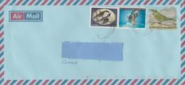 5]  Enveloppe Cover Zambie Zambia Inflation Surchargé 300/50 K Overprinted 2.200 K Oiseau Bird ONU UNO - Zambia (1965-...)