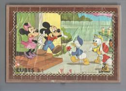 Ancien Puzzle Cubes Disney Complet (6 Puzzles En 1) - Puzzles