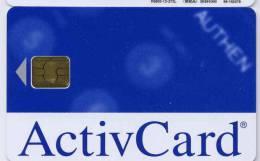 CARTE A PUCE ACTIVCARD - Télécartes