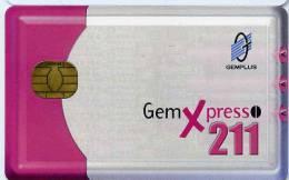 CARTE A PUCE GEMPLUS GEMXPRESSO 211 - Télécartes