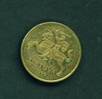 LITHUANIA  -  1999  20c  Circulated Coin - Lituania