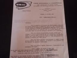 Nord - ROUBAIX - Rue Fauvrée - UNIC - Union Industrielle Et Commerciale - 1969 - Old Paper