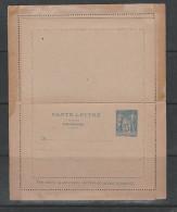 FRANCE ENTIER POSTAL 15C BLEU TYPE SAGE CARTE LETTRE AVEC CARTE LETTRE REPONSE NEUF - Biglietto Postale