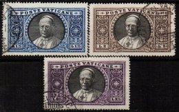 VATICAN - Les 3 Bonnes Valeurs De 1933 Oblitérées TTB - Vatican