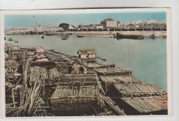 CPSM HANOI (Viet Nam) - Dépôt De Bambous Sur Le Canal Bonnal - Vietnam