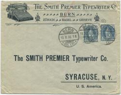 843 - Illustrierter Beleg Mit Stehende Helvetia MeF Nach Amerika (USA) - 1882-1906 Wappen, Stehende Helvetia & UPU