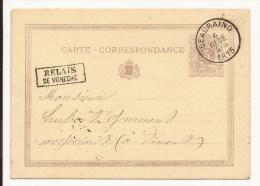 Ep 5c lilas dat� de Froidfontaie C�d BEAURAING/1875 + encad RELAIS DE VONECHE pour Dinant. SUPERBE