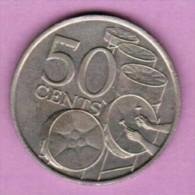 TRINIDAD & TOBAGO  50 CENTS 1977 (KM # 33) - Trinidad & Tobago