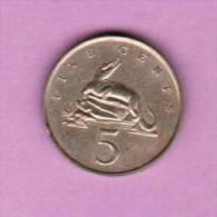 JAMAICA  5 CENTS 1969 (KM # 46) - Jamaica