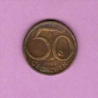 AUSTRIA  50 GROSCHEN 1983 (KM # 2885) - Austria