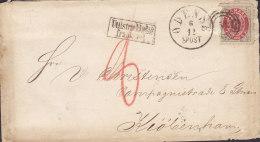 """Denmark 4 Skilling UTILSTRÆKKELIGT FRANKERET Boxed Cds. ODENSE """"51"""" 187? Cover Brief Compagnistræde KIØBENHAVN (2 Scans) - 1864-04 (Christian IX)"""