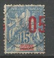 GRANDE COMORE N� 22 SURCHARGE TRES DEPLACE 0BL
