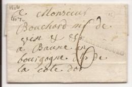 L 1804 De Frasne Marque 7/MARIEMBOURG + 6 Pour Beaune - 1794-1814 (Période Française)