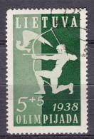 Lithuania Litauen 1938 Mi#417 Used - Lithuania