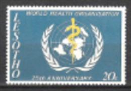Lesotho Basutoland 1973 Organisationen Vereinte Nationen Weltgesundheitsorganisation UNO ONU WHO Medizin, Mi. 131 ** - Lesotho (1966-...)