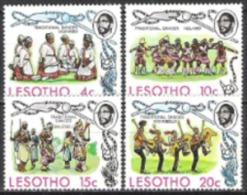 Lesotho Basutoland 1975 Kultur Brauchtum Folkore Volkstänze Tanzen Tänze Kleidung Kostüme Traditionen, Mi. 191-4 ** - Lesotho (1966-...)