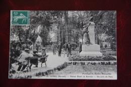 LUNEL - Statue De Henri De Bornier, Un Coin Du Parc - Lunel