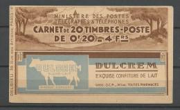 CARNET PUB BYRRH / POSTE TYPE SEMEUSE N� 190 NEUF** LUXE SANS CHARNIERE / MNH