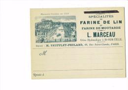 cpa - 21 - Usine hydraulique Is-sur-Tille (C�te d'or) - L. Marceau - Farine lin moutarde - d�pot REUFFLET FEULARD Paris