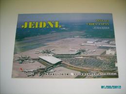 JAPAN  NARITA AIRPORT   , QSL  RADIO POSTCARD ,  O - Aerodrome