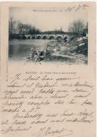 Mantes, Le Vieux Pont Et Ses Laveuses. Précurseur - Mantes La Jolie